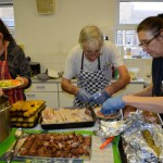Christmas lunch kitchen volunteers 2015