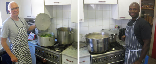 New cookers for the Homeless Drop-In kitchen