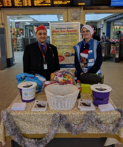Wimbledon station collection for local homeless