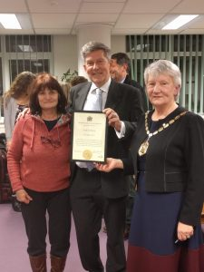 Drop-in manager honoured by Merton Council